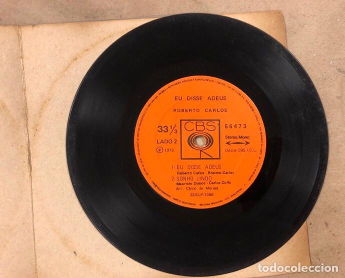 """Discos de vinilo: ROBERTO CARLOS """"EU DISSE ADEUS"""" (CBS 1975). MAXI SINGLE VINILO.CON FUNDA PLÁSTICO. - Foto 2 - 211628927"""