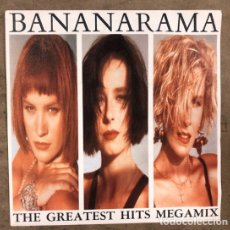 "Discos de vinilo: BANANARAMA ""THE GREATEST HITS MEGAMIX"" (1989). MAXI SINGLE VINILO PROMOCIONAL.. Lote 211628969"