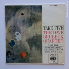 Discos de vinilo: THE DAVE BRUBECK QUARTET – TAKE FIVE SWEDEN 1964 CBS. Lote 211632406