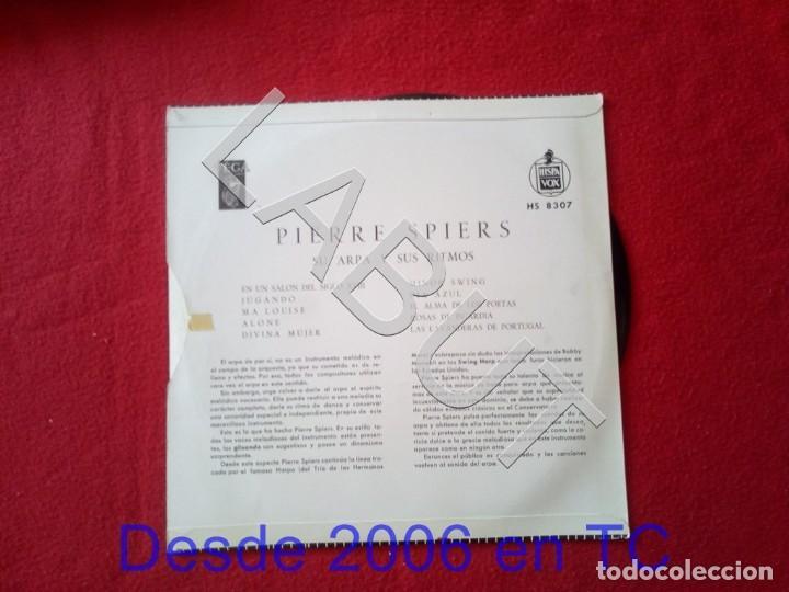 Discos de vinilo: PIERRE SPIERS SU HARPA Y SUS RITMOS 250 GRS D1 - Foto 2 - 211634736