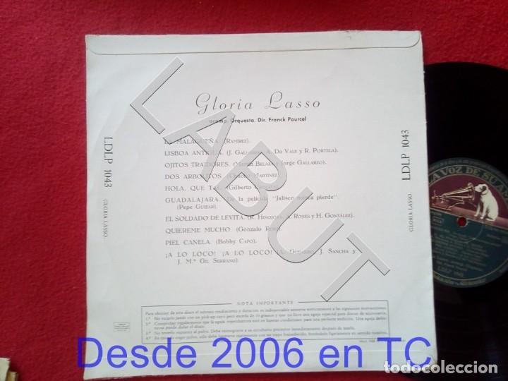 Discos de vinilo: GLORIA LASSO FRANCK POURCEL LDLP 1043 250 GRS D1 - Foto 2 - 211635025