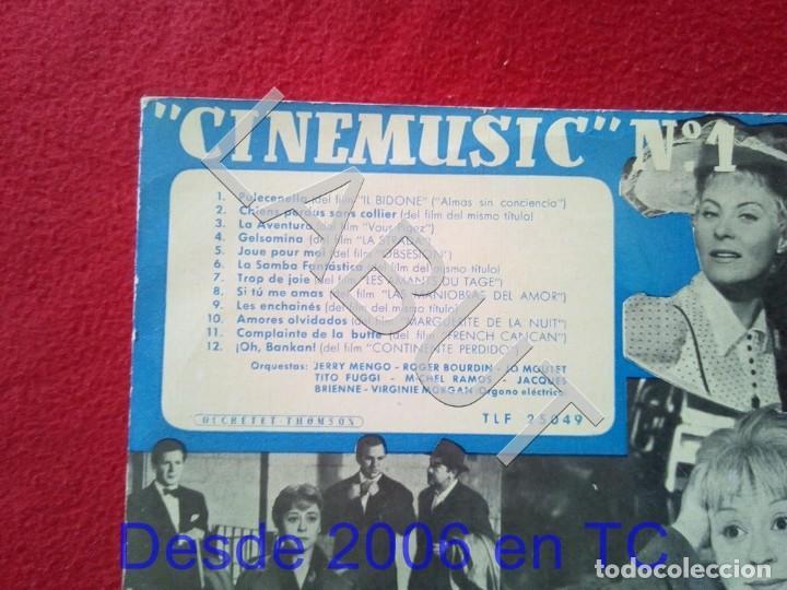 Discos de vinilo: 10 PULGADAS - CINEMUSIC Nº 1 TELEFUNKEN TLF 25049 250 GRS D1 - Foto 2 - 211635224