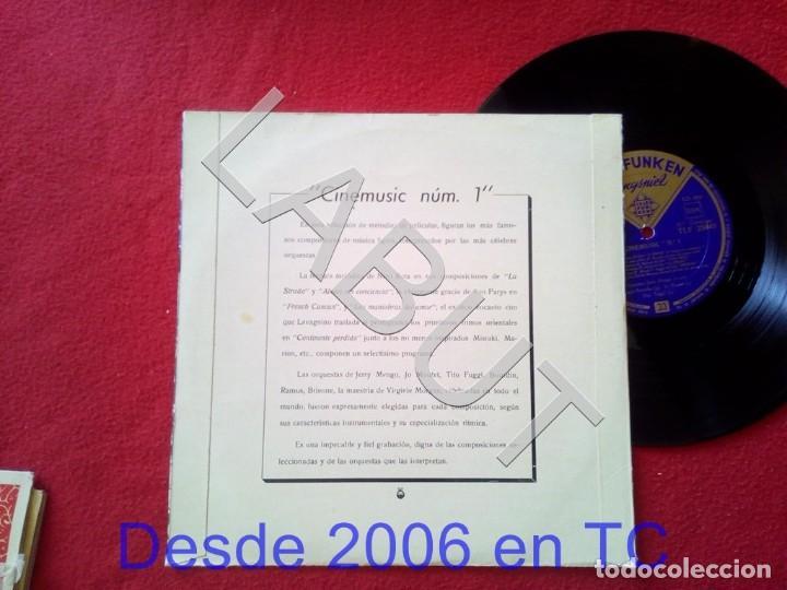 Discos de vinilo: 10 PULGADAS - CINEMUSIC Nº 1 TELEFUNKEN TLF 25049 250 GRS D1 - Foto 3 - 211635224