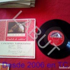 Discos de vinilo: BENIAMINO GIGLI CANCIONES NAPOLITANAS 250 GRS D1. Lote 211635315