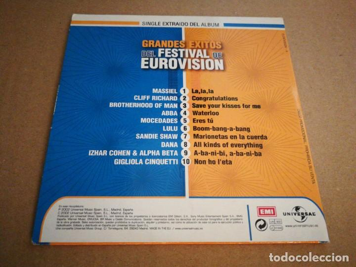 Discos de vinilo: GRANDES EXITOS DEL FESTIVAL DE EUROVISION CD SINGLE PROMO CLIFF RICHARD SANDIE SHAW CANTA EN ESPAÑOL - Foto 2 - 222301498