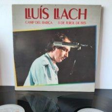 Discos de vinilo: LLUIS LLACH. CAMP DEL BARÇA. 6 DE JULIOL 1.985. ARIOLA. 1985.. Lote 211658181