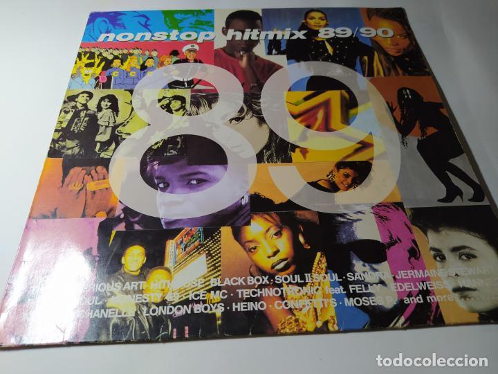 LP - VARIOUS ?– NONSTOP HITMIX 89/90 - ZYX 20156-1 (VG+/ VG+) GER 1989 (Música - Discos - LP Vinilo - Disco y Dance)