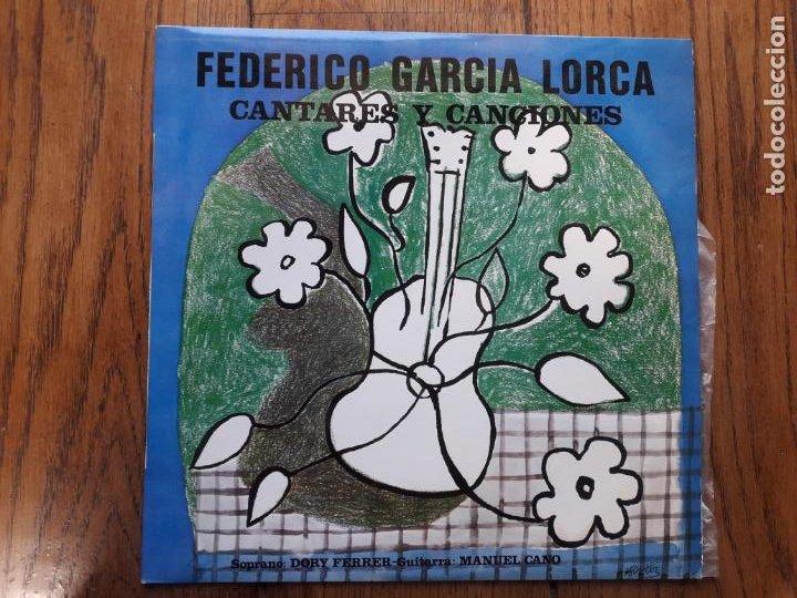 FEDERICO GARCÍA LORCA CANTARES Y CANCIONES - DORY FERRER - MANUEL CANO (Música - Discos de Vinilo - Maxi Singles - Étnicas y Músicas del Mundo)