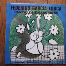 Discos de vinilo: FEDERICO GARCÍA LORCA CANTARES Y CANCIONES - DORY FERRER - MANUEL CANO. Lote 211669713