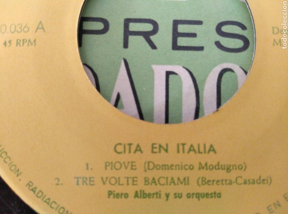Discos de vinilo: Disco sorpresa Fundador. Cita en Italia. N° 10036 - Foto 2 - 211673355