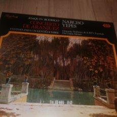 Discos de vinilo: LP CONCIERTO DE ARANJUEZ / JOAQUÍN RODRIGO / NARCISO YEPES. Lote 211677594