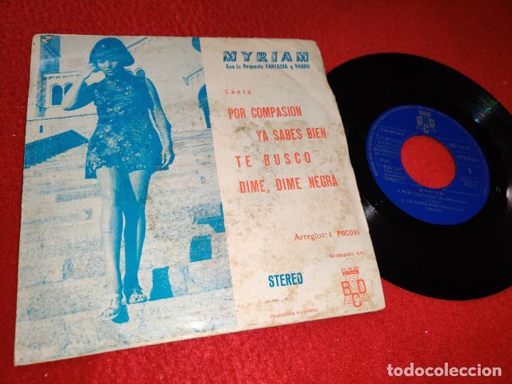 MYRIAM&FANTASIA NARBO POR COMPASION/TE BUSCO/YA SABES BIEN +1 EP 1971 BCD PROMO (Música - Discos de Vinilo - EPs - Solistas Españoles de los 50 y 60)