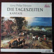 Discos de vinilo: LP GEORG PHILIPP TELEMANN ?– DIE TAGESZEITEN - KANTATE (CANTATA) ALEMANIA. Lote 211685341