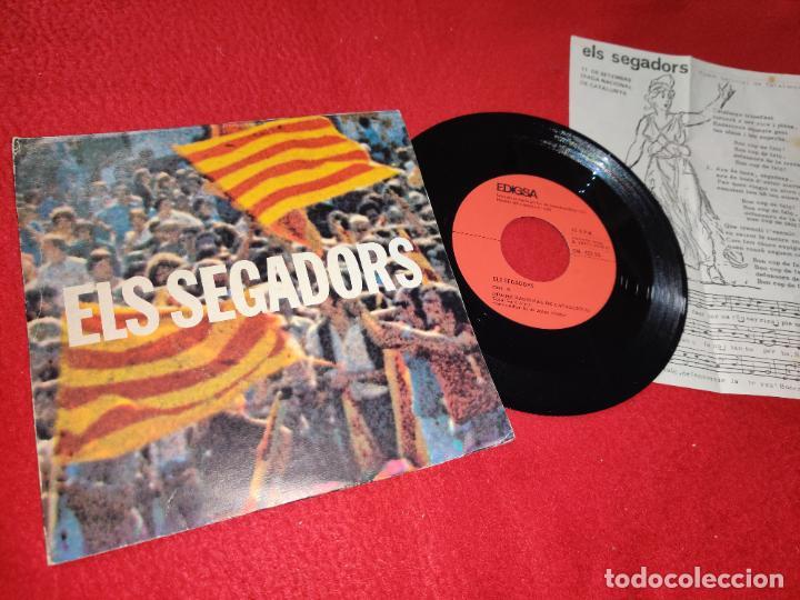 CORAL SANT JORDI ELS SEGADORS + RICARD VILADESAU EL SEGADORS 7'' SINGLE 1976 EDIGSA CATALUNYA (Música - Discos - Singles Vinilo - Otros estilos)