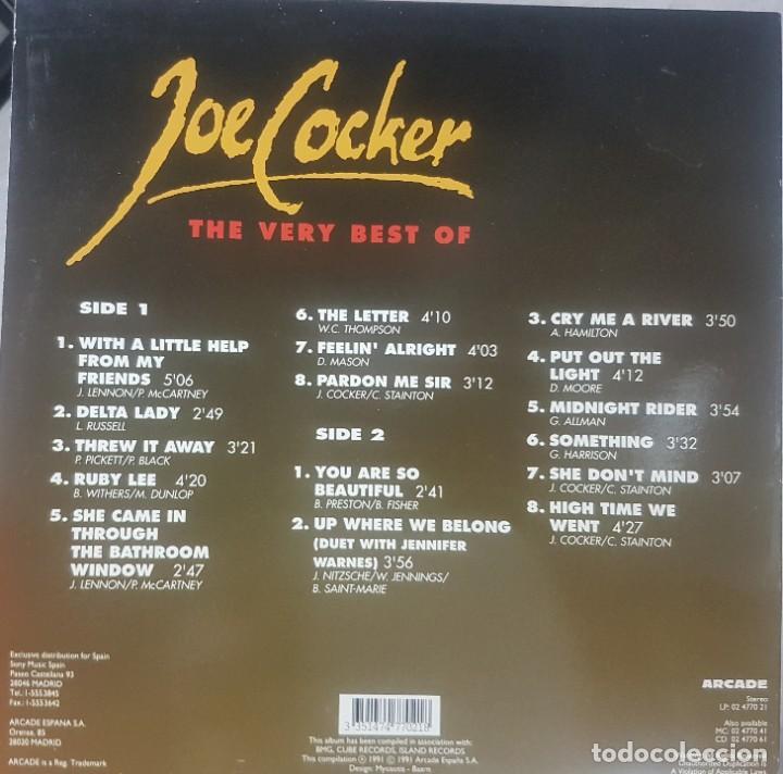 Discos de vinilo: The very best of Joe Cocker - Buen estado - Arcade 1991 - Foto 2 - 211696049
