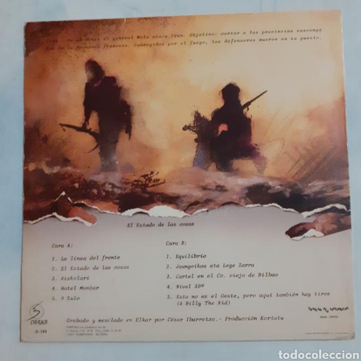 Discos de vinilo: Kortatu. El Estado de las cosas. S-149. Oihuka, 1986. Ree. O-149. Disco VG++. Carátula EX. - Foto 2 - 211701384