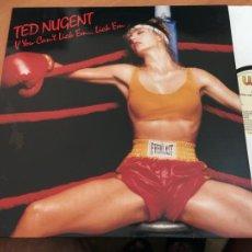 Discos de vinilo: TED NUGENT (IF YOU CAN'T LICK EM LICK EM) LP ESPAÑA 1988 (B-12). Lote 211706305