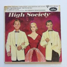 Discos de vinilo: BING CROSBY - GRACE KELLY - LOUIS ARMSTRONG AND HIS BAND - FRANK SINATRA ‎– HIGH SOCIETY GERMANY. Lote 211721010