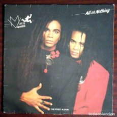 Discos de vinilo: LP MILLI VANILLI - ALL OR NOTHING - THE FIRST ALBUM. CON ENCARTE. Lote 211726024