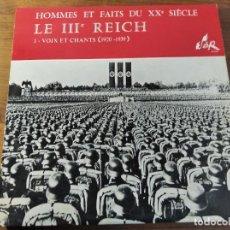Discos de vinilo: III REICH - VOIX ET CHANTS (1920-1939) ***** RARO LP FRANCÉS XX GUERRA MUNDIAL. Lote 211730200