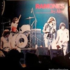 """Discos de vinilo: RAMONES """"IT'S ALIVE"""" DISCO DOBLE EN DIRECTO. VINILO EDICIÓN ALEMANA MEDIADOS DE LOS 80. Lote 211733714"""