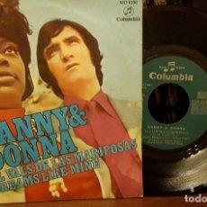 Disques de vinyle: DANNY & DONNA - EL VALS DE LAS MARIPOSAS. Lote 211746042