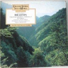 Dischi in vinile: GRANDE STORIA DELLA MUSICA - BRAHMS - COCIERTO Nº 1 PARA PIANO EN RE MENOR - LP. Lote 211751308