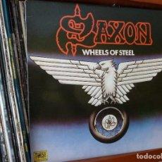Discos de vinilo: SAXON-LP DISCO VINILO=SAXON· WHEELS OF STELL=CARRERE·CAR 00006-1980. Lote 211753201