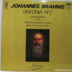 Dischi in vinile: JOHANNES BRAHMS - SINFONIA Nº 2 - DIR. KAREL ANCERL - LP. Lote 211754157