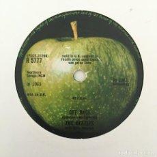Discos de vinilo: THE BEATLES WITH BILLY PRESTON – GET BACK, UK 1969 APPLE RECORDS. Lote 211760357