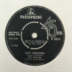 Discos de vinilo: THE BEATLES – LADY MADONNA, UK 1968 PARLOPHONE. Lote 211761603