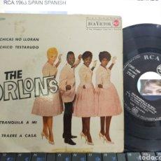 Discos de vinilo: THE ORLONS EP LAS CHICAS NO LLORAN + 3 ESPAÑA 1963 ESCUCHADO. Lote 211775040