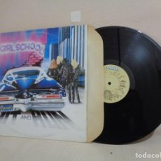 Discos de vinilo: GIRLSCHOOL --HIT AND RUN--BRONZE RECORDS - 1981- IBEROFON -SPAIN-. Lote 211775178