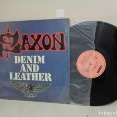 Discos de vinilo: SAXON--DENIM AND LEATHER --CARRERE- 1981- CBS- MADRID-. Lote 211776098