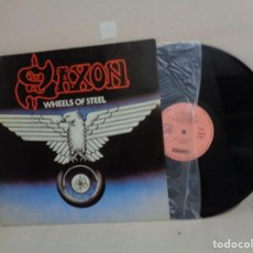 Discos de vinilo: SAXON --WHEELS OF STEEL--CARRERE- 1980- MADRID- CBS-. Lote 211776382