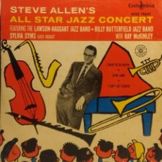 Discos de vinilo: EP STEVE ALLEN ALL STAR JAZZ CONCERT : I WANT TO BE HAPPY + 2. Lote 211790056