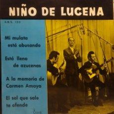 Discos de vinilo: EP NIÑO DE LUCENA : MI MULATA ESTA ABUSANDO ( GUAJIRA ). Lote 211792802