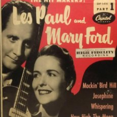 Discos de vinilo: EP LES PAUL AND MARY FORD : MOCKIN´BIRD HILL. Lote 211793601