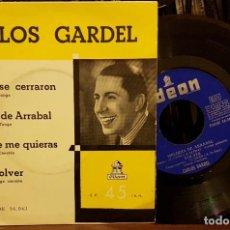 Discos de vinilo: CARLOS GARDEL - SUS OJOS SE CERRARON. Lote 211793728