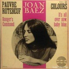 Discos de vinilo: EP JOAN BAEZ : PAUVRE RUTEBEUF ( TAMBIEN CONTIENE VERSIONES DE DONOVAN & BOB DYLAN & WOODY GUTHRIE ). Lote 211794060