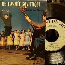 Discos de vinilo: LES CHOEURS DE L´ARMÉE SOVIÉTIQUE A PARIS. Lote 211795543