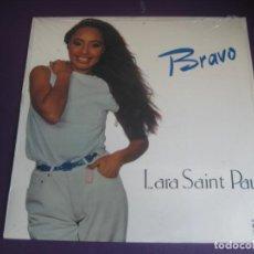 Discos de vinilo: LARA SAINT PAUL - BRAVO LP MOVIEPLAY 1981 PRECINTADO - LATINA DISCO ELECTRONICA 80'S. Lote 211797887