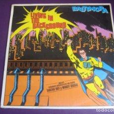 Discos de vinilo: BALTIMORA ?– LIVING IN THE BACKGROUND LP EMI 1985 PRECINTADO - ITALODISCO 80'S - DISCO POP ITALIA. Lote 211799256