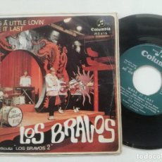 Discos de vinilo: LOS BRAVOS - BRING A LITTLE LOVIN +1 - SINGLE COLUMBIA 1967. Lote 211803990