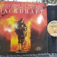 Discos de vinilo: BACKDRAFT LP B.S.O. FRANCIA 1991. Lote 211804606