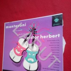 Disques de vinyle: MANTOVANI VICTOR HERBERT BUEN ESTADO LP 400 GRS D2. Lote 211804923