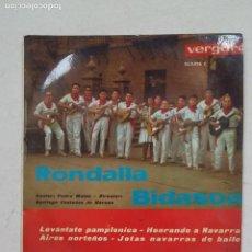 Discos de vinilo: RONDALLA BIDASOA. LEVÁNTATE PAMPLONICA. EP. TDKDS15. Lote 211809727