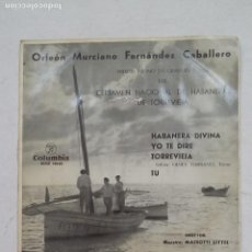 Discos de vinilo: ORFEON MURCIANO CERTAMEN NACIONAL DE HABANERAS DE TORREVIEJA. TDKDS15. Lote 211810118