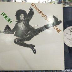 Discos de vinilo: SLY AND THE FAMILY STONE LP FRESH CARPETA DOBLE U.K. 1987. Lote 211811328
