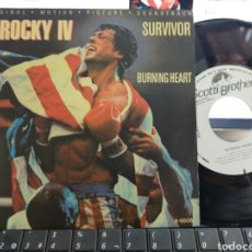 Discos de vinilo: SURVIVOR SINGLE PROMOCIONAL POR UNA SOLA CARA BURNING HEART B.S.O. ROCKY IV ESPAÑA 1985. Lote 211813968